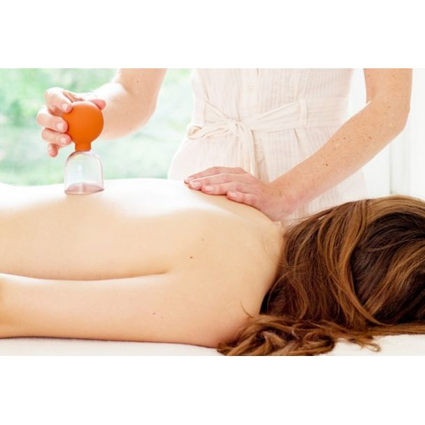 Cupping lymphatic drainage massage