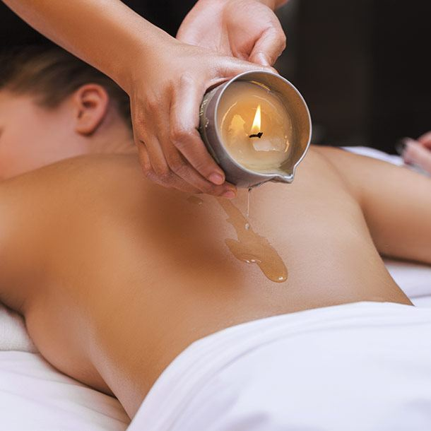 "Massage ""Touching a melting candle"""